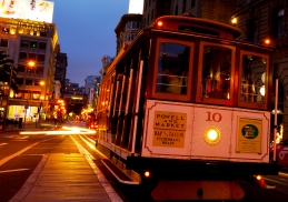 San Fancisco Cable Car - blaue Stunde
