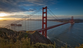Golden Gate Bridge Sunrise HDR