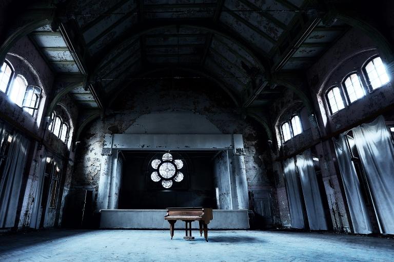 Beelitz Heilstaetten alter Flügel - Piano - Klavier
