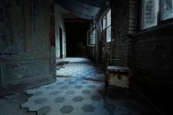 Beelitz Heilstätten - verlassener Flur - - Lost Place - alter Fliesenboden