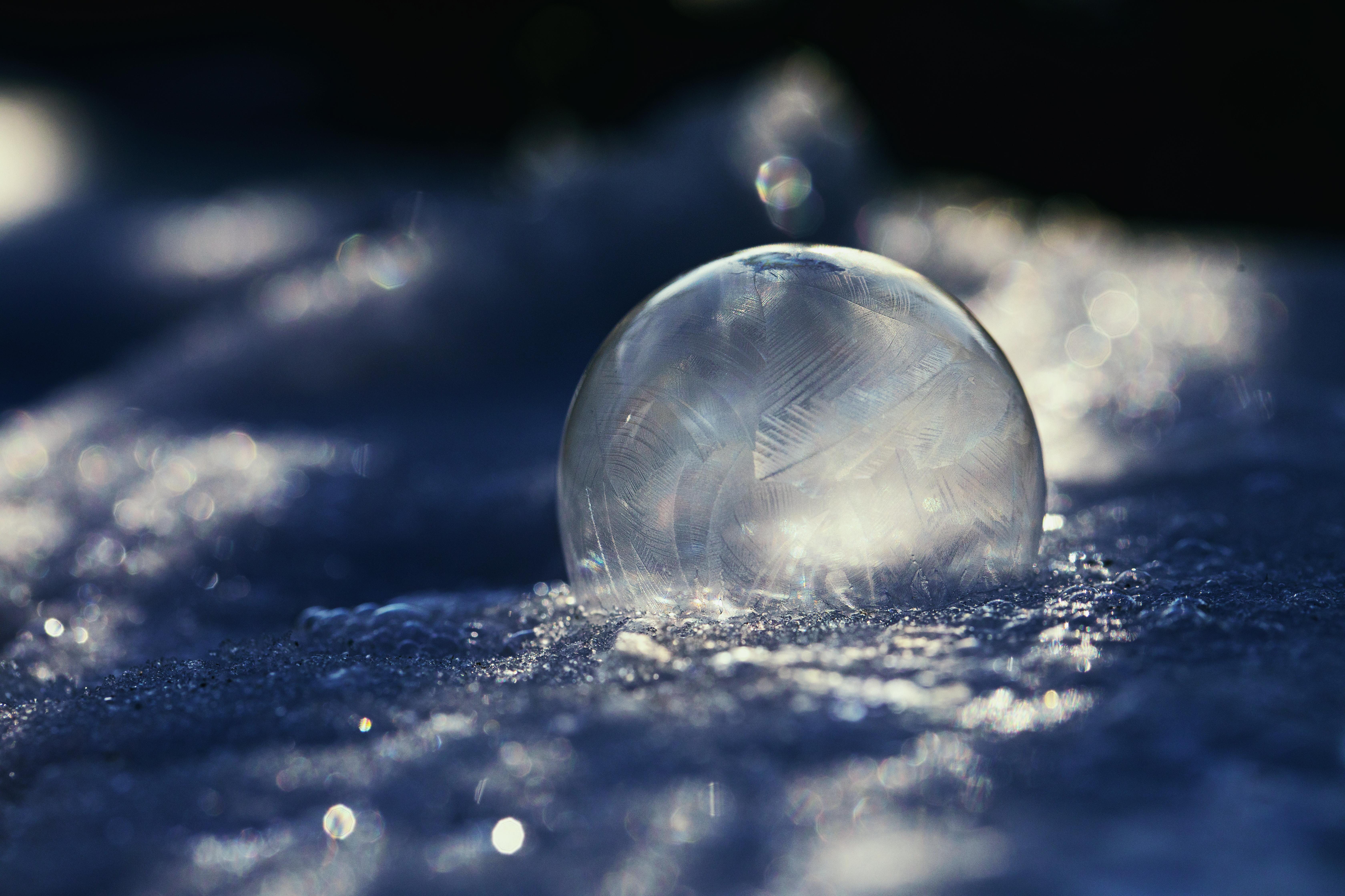 Seifenblasen fotografieren - gefroren im Winter - Eis - Kälte