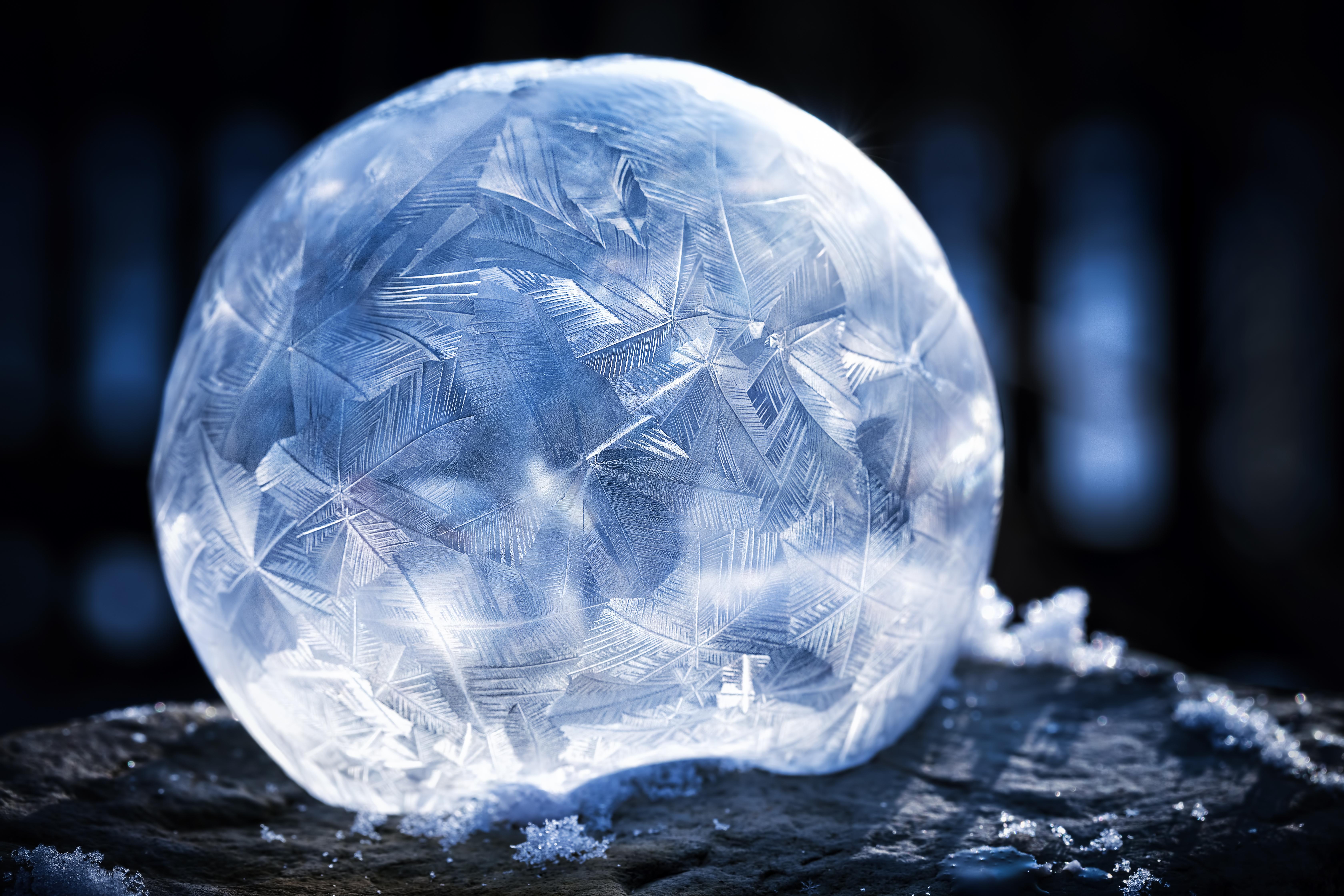 gefrorene Seifenblasen im Garten fotografieren - bilderausstrom.com