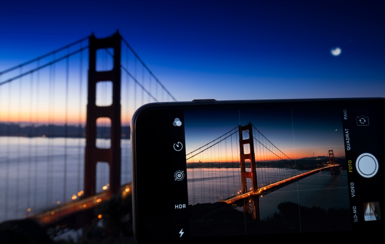 Golden Gate Bridge long expossure - iPhone