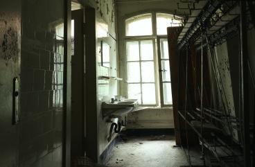 Waschräume in den Gaderoben Hotel - Lost Place