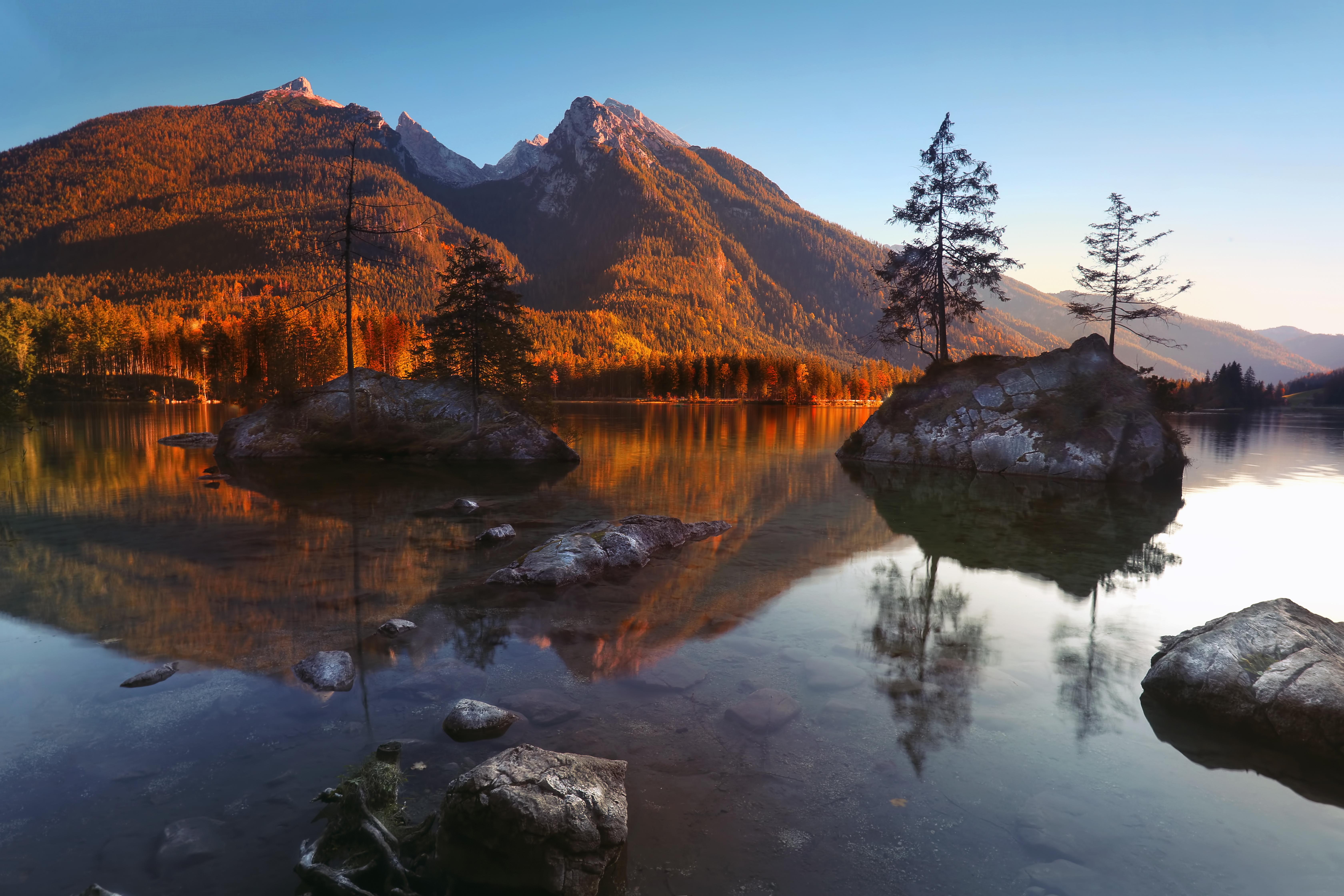 Hintersee Ramsau Berchtesgadener Land - Goldner Herbst
