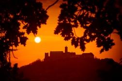 Wartburg Sonnenuntergang
