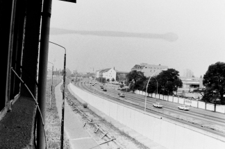 Blick vom Wachturm - Ehemalige Grenzanlagen 1990 - heute Eastside Gallery