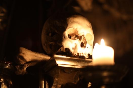 Schädel in der Knochenkirche von Sedlec - Kutna Hora