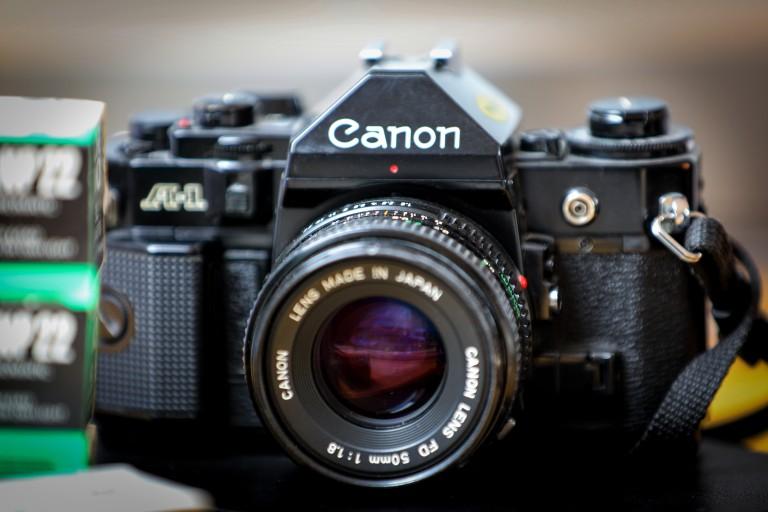 alte Canon A! Kamera