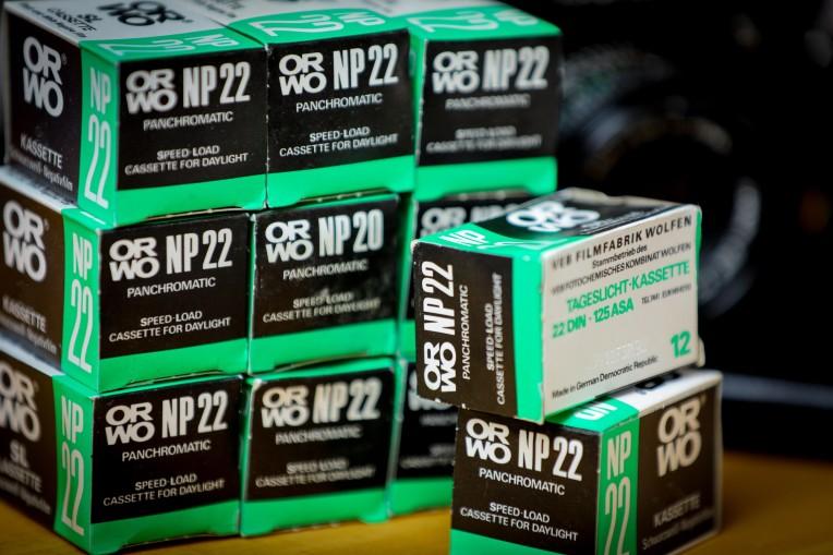 ORWO NP 22 schwarz/weiss Film
