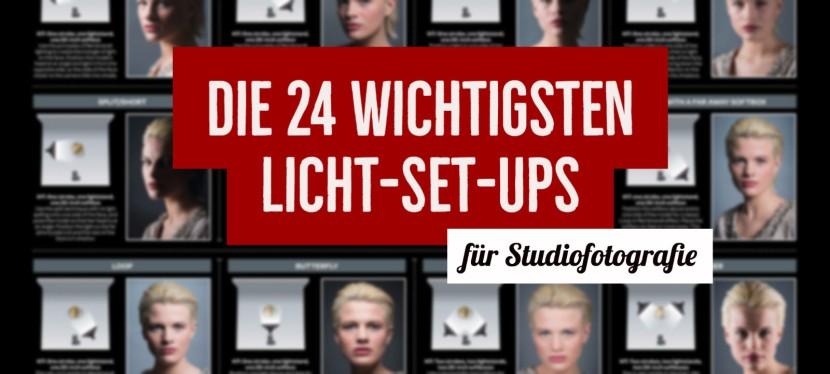 Die 24 wichtigsten Licht-Set-ups für Studiofotografie