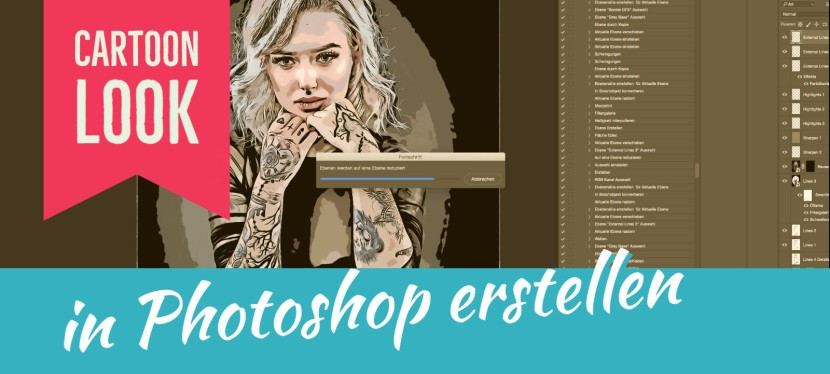Cartoon Look in Photoshop erstellen – Kostenloses PS-Script