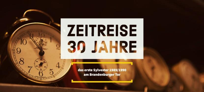 Zeitreise 30 Jahre – das erste Sylvester am BrandenburgerTor