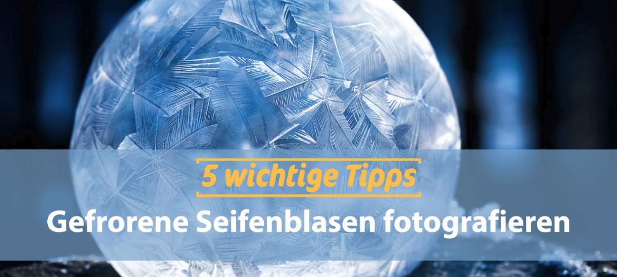Fotos von gefrorenen Seifenblasen Fotografieren