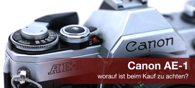 Canon AE-1 – was ist beim Kauf zubeachten?