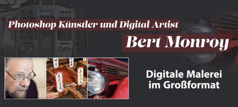 Photoshop Künstler und Digital Artist Bert Monroy – Digitale Malerei imGroßformat